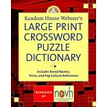 Websters Large Print Crossword Puzzle Dict