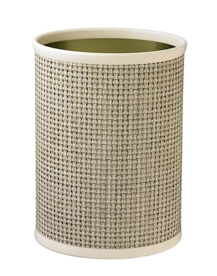 Kraftware Woven 3.25 Gallon Waste Basket; Pearl