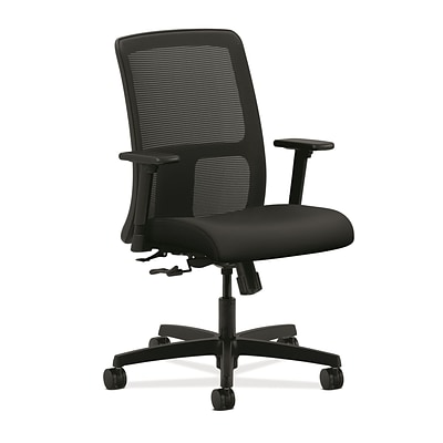 HON® Ignition® Mesh Low-Back Office/Computer Chair, Contourett Polyurethane Black Fabric