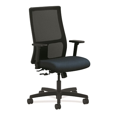 HON® Ignition® Mesh Mid-Back Office/Computer Chair, Adjustable Arms, Confetti Blue