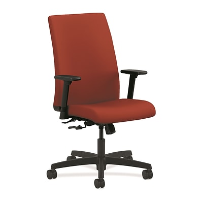 HON® Ignition® Mid-Back Office/Computer Chair, Adjustable Arms, Centurion Poppy