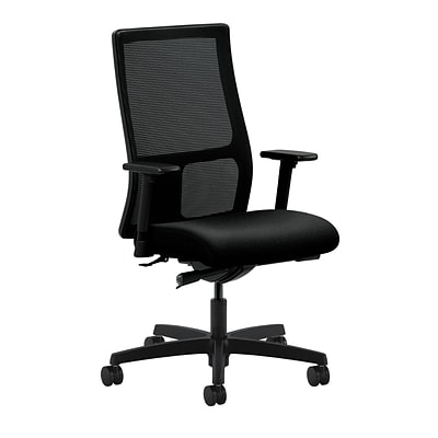 HON® Ignition® Mid-Back Office/Computer Chair, Adjustable Arms, Confetti Black Fabric