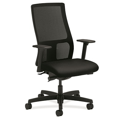HON® Ignition® Mid-Back Mesh Office/Computer Chair, Adjustable Arms, Contourett Polyurethane Black NEXT2017 NEXT2Day