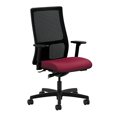 HON® Ignition® Mid-Back Office/Computer Chair, Adj Arms, Synchro-Tilt, Inertia Mulberry Fabric