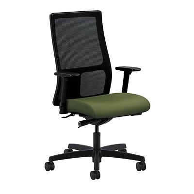 HON® Ignition® Mid-Back Office/Computer Chair, Adjustable Arms, Synchro-Tilt, Inertia Clover Fabric