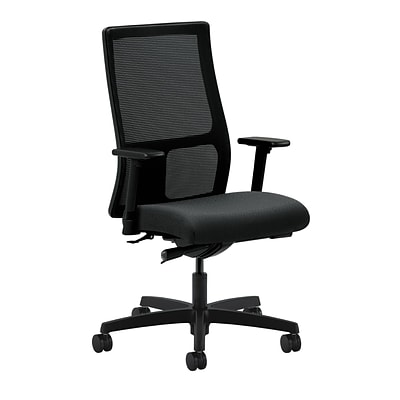 HON® Ignition® Mid-Back Office/Computer Chair, Adj Arms, Synchro-Tilt, Tectonic Charcoal Fabric