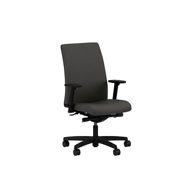 HON® Ignition® Mid-Back Office/Computer Chair, Arms, Synchro-Tilt, Centurion Iron Ore Fabric