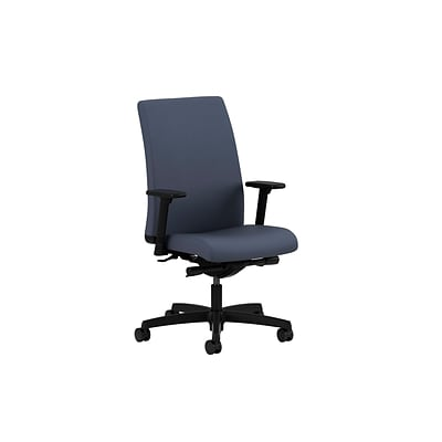 HON® Ignition® Mid-Back Office/Computer Chair, Adjustable Arms, Synchro-Tilt, Centurion Blue Fabric