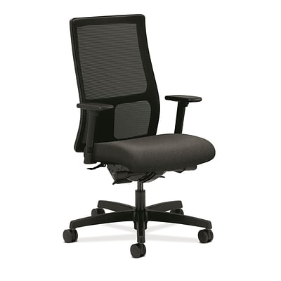 HON® Ignition® Mid-Back Office/Computer Chair, Adjustable Arms, Confetti Charcoal Fabric