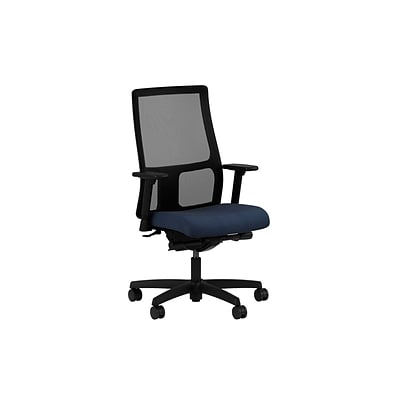 HON® Ignition® Mid-Back Office/Computer Chair, Adjustable Arms, Synchro-Tilt, Confetti Blue Fabric