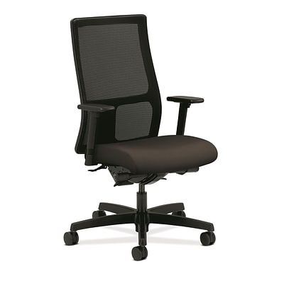 HON® Ignition® Mid-Back Office/Computer Chair, Adjustable Arms, Centurion Espresso Fabric