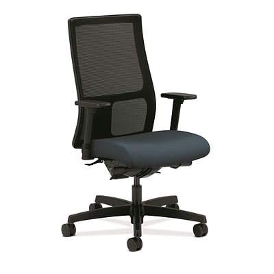 HON® Ignition® Mid-Back Office/Computer Chair, Adjustable Arms, Centurion Blue Fabric