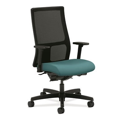 HON® Ignition® Mid-Back Office/Computer Chair, Adjustable Arms, Centurion Glacier Fabric