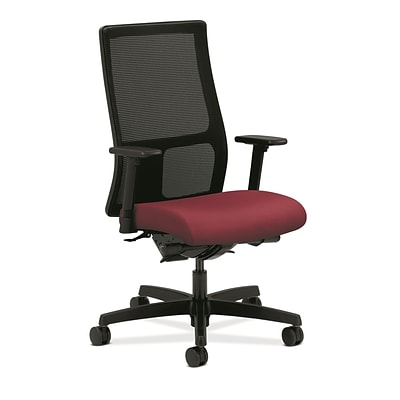 HON® Ignition® Mid-Back Office/Computer Chair, Arms, Mulberry
