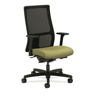 HON® Ignition® Mid-Back Office/Computer Chair, Adjustable Arms, Synchro-Tilt, Inertia Lime Fabric