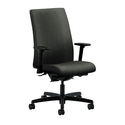 HON® Ignition® Mid-Back Office/Computer Chair, Adjustable Arms, Centurion Iron Ore Fabric
