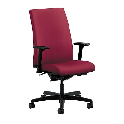HON® Ignition® Mid-Back Office/Computer Chair, Adjustable Arms, Inertia Mulberry Fabric