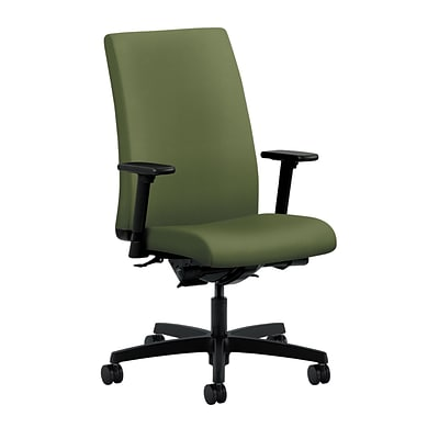 HON® Ignition® Mid-Back Office/Computer Chair, Adjustable Arms, Inertia Clover Fabric