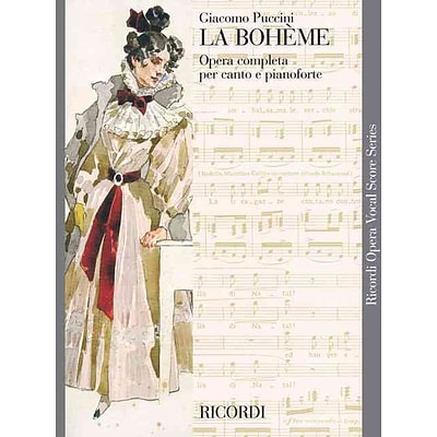 LA BOHEME VOCAL SCORE    PAPER ITALIAN        NEW ART COVER