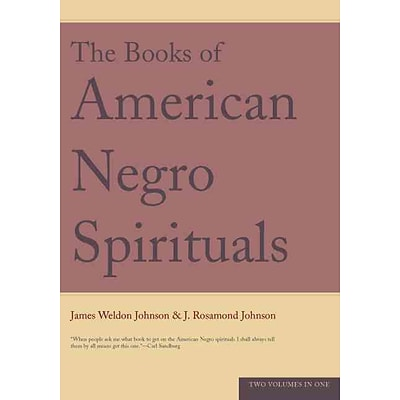 The Books of the American Negro Spirituals