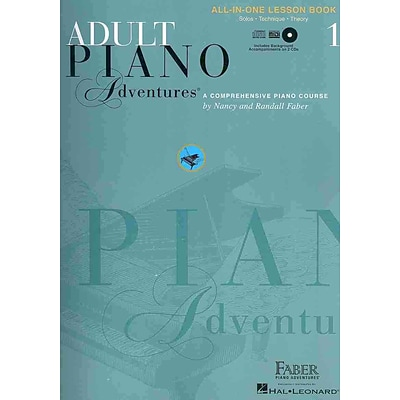 Adult Piano Adventures All-in-One Lesson Book 1 (Faber Piano Adventures) with 2 CDs
