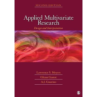 Sage Applied Multivariate Research Book