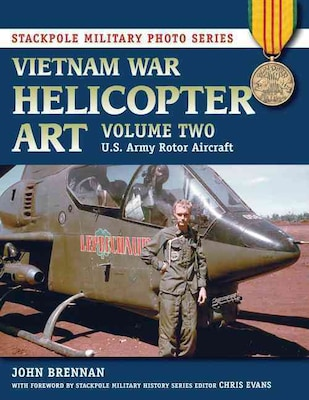 "STACKPOLE BOOKS ""Vietnam War Helicopter Art: Vol. 2, U.S. Army Rotor Aircraft"" Paperback Book"