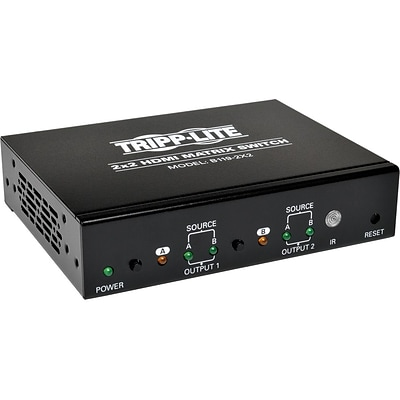 Tripp Lite 2x2 HDMI 1920 x 1200 at 60Hz/1080p Matrix Switchbox For Video and Audio; Black