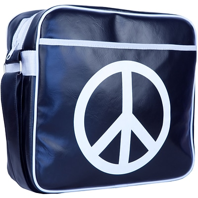 Urban Factory Peace & Love Vintage Bag For 12 Notebook; Dark Blue