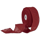 Bags & Bows® 2 x 10 Yds. Wired Burlap Ribbon, Red, 1/RL