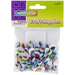 Chenille Kraft Creativity Street Peel & Stick Wiggle Eyes, 7 - 15 mm, Assorted