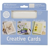 FLUOR WH/Deckle 5x7 Cards & Envelopes