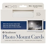 Pro-Art Strathmore® 5 x 7 Cards & Envelopes, White Photo Mount, 10/Pk
