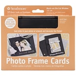 Black Photo Frame 5x7 Cards & Envelopes