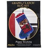 M C G Textiles Latch Hook Kit, 12 x 17, Puppy Stocking
