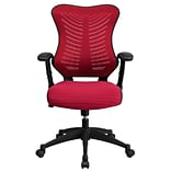 Flash Furniture BLZP806BY Mesh Office Chair, Burgundy