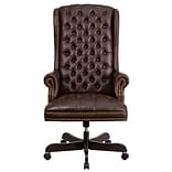 Flash Furniture CI360BRN Leathersoft Traditional Executive Chair, Brown