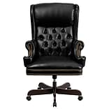 Flash Furniture CIJ600BK Leathersoft Traditional Executive Chair, Black