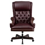Flash Furniture CIJ600BY Leathersoft Traditional Executive Chair, Burgundy