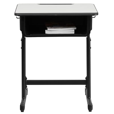 Flash Furniture YUYCY046 Plastic Student Desk, Grey