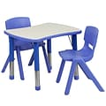 Flash Furniture YU09832RECTBLBL 21.88 x 26.63 Plastic Rectangle Activity Table, Blue