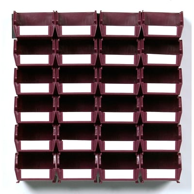 LocBin 3-210RBWS Wall Storage Small Bins, Raspberry