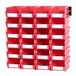 LocBin 3-210RWS Wall Storage Small Bins; Red