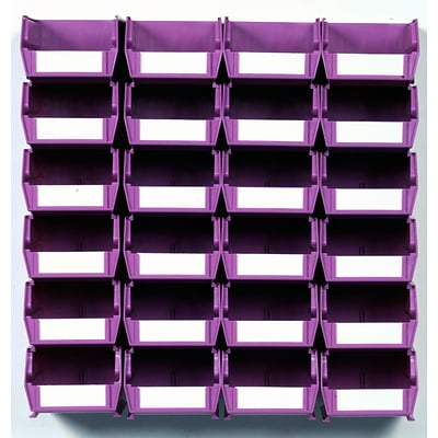 LocBin 3-210WOWS Wall Storage Small Bins, Orchid