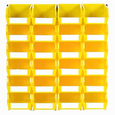 LocBin 3-210YWS Wall Storage Small Bins; Yellow