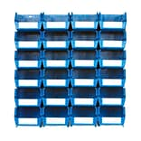 LocBin 3-220BWS Wall Storage Medium Bins, Blue, 24/Pack