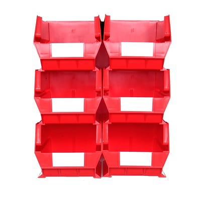 LocBin 3-240RWS Wall Storage Large Bins, Red