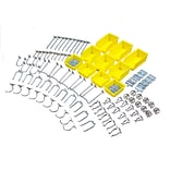 DuraHook 76995 Kit 85 Hooks 10 Bins, Yellow