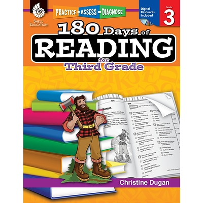 Practice, Assess, Diagnose: 180 Days of Reading for Third Grade