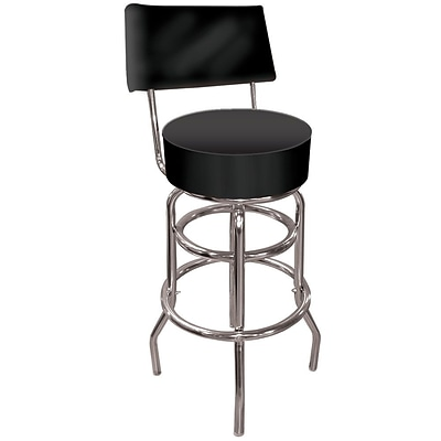 Trademark 40 High Grade Padded Swivel Bar Stool With Back